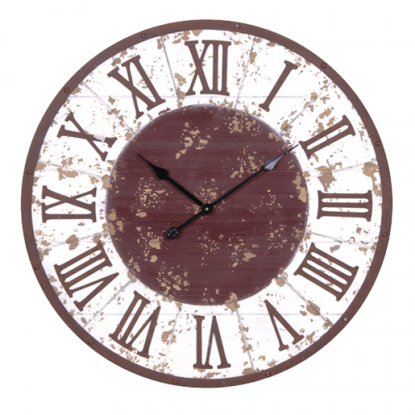 Large Rustic Wall Clock - No1 Online Shabby Chic Furniture Store