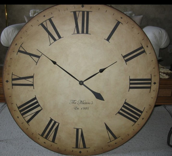 30 inch Large Wall Clock Antique Rustic Tuscan Gallery Personalized ...