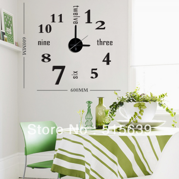 Aliexpress.com : Buy DIY Wall Clock 3D Sticker Modern Design Art Time ...