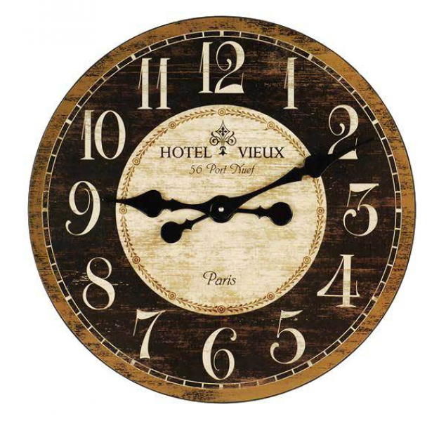 French Country Hotel Vieux Wall Clock 48cm