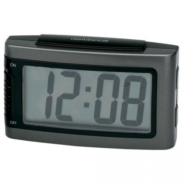Impecca 1.3-Inch LCD Display Battery Alarm Clock with Snooze and ...
