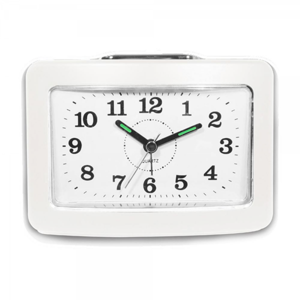 Impecca Bell Alarm Clock with Snooze and Light White | eBay