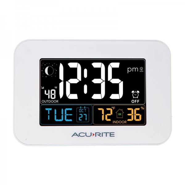 Intelli-Time Alarm Clock with Temperature & USB Charger | AcuRite