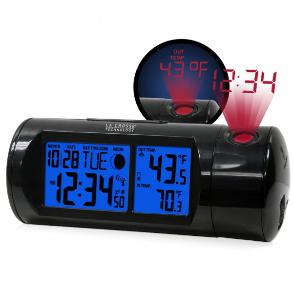 616-143 Projection Alarm Clock with IN/OUT Temperature