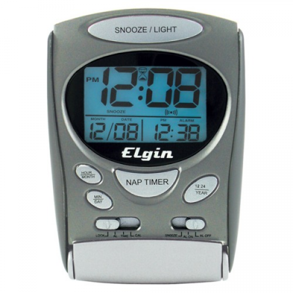 Elgin 3400E Lcd Travel Alarm Clock - T39153-im - Clocks - Home ...
