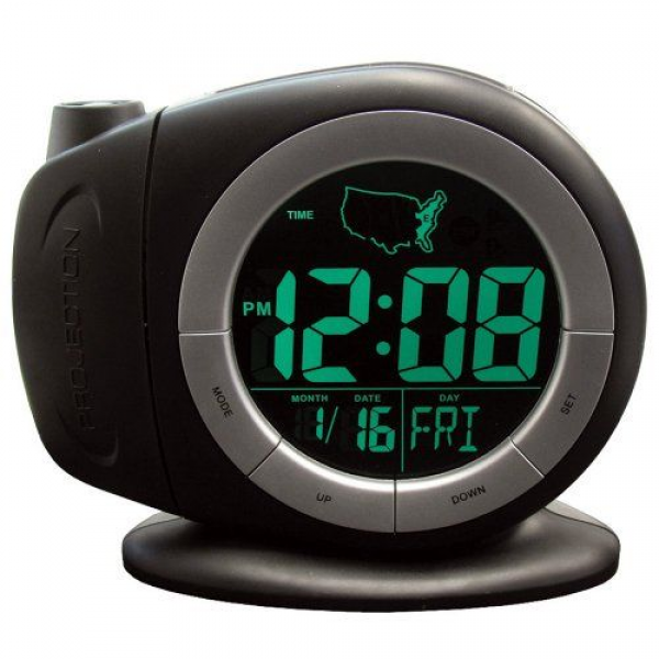 Black Friday 2014 Elgin Electric LCD Projection Alarm Clock With Time ...
