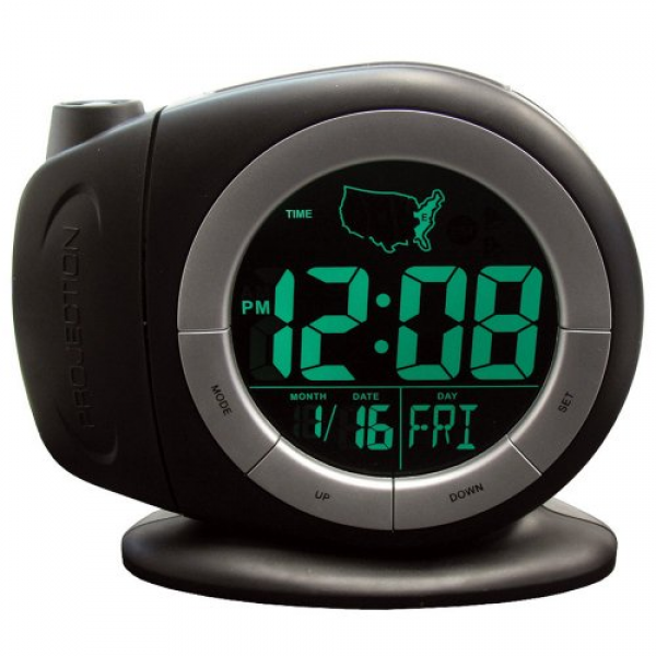 Elgin Electric LCD Projection Alarm Clock With Time Ready Technology ...