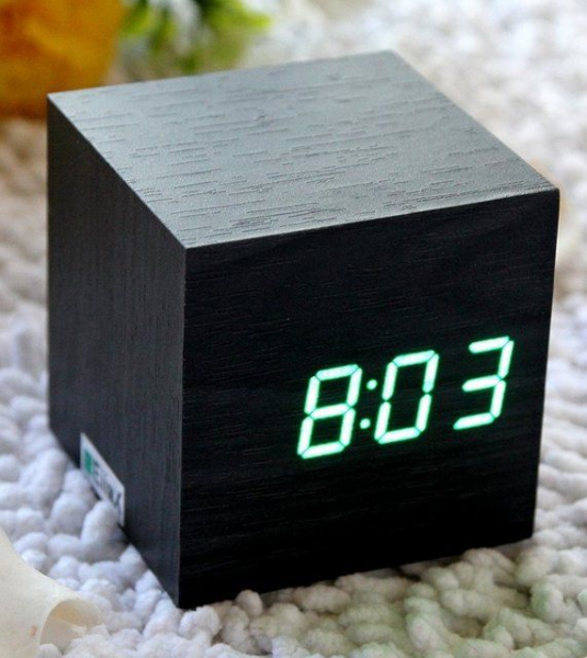 Cube Mini LED Wooden Digital Alarm Clock | Design | Packaging | Pinte ...