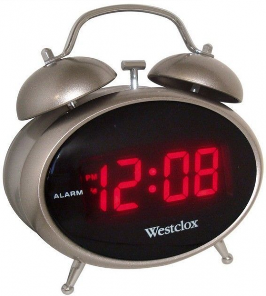 ... Westclox Classic Twin Bell Retro Design Electric Digital Alarm Clock