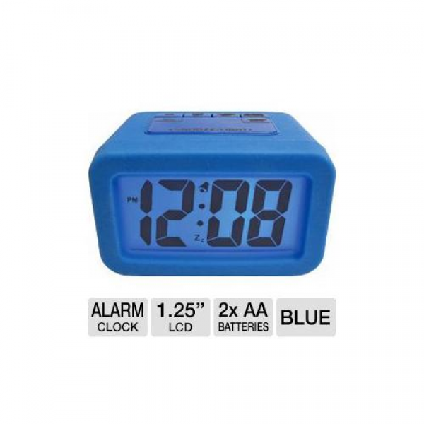 Geneva Advance Time Technology Alarm Clock - LCD, Snooze, Silicone ...