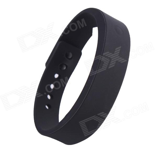 ... TPU Wrist Band w/ Call Remind / Idle Vibration / Alarm Clock - Black