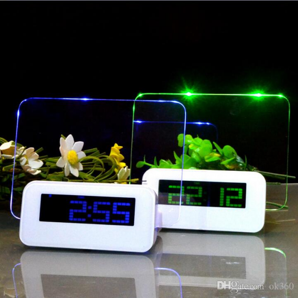 Message board Alarm Clock Luminous Fluorescent LED Electronic Clock ...