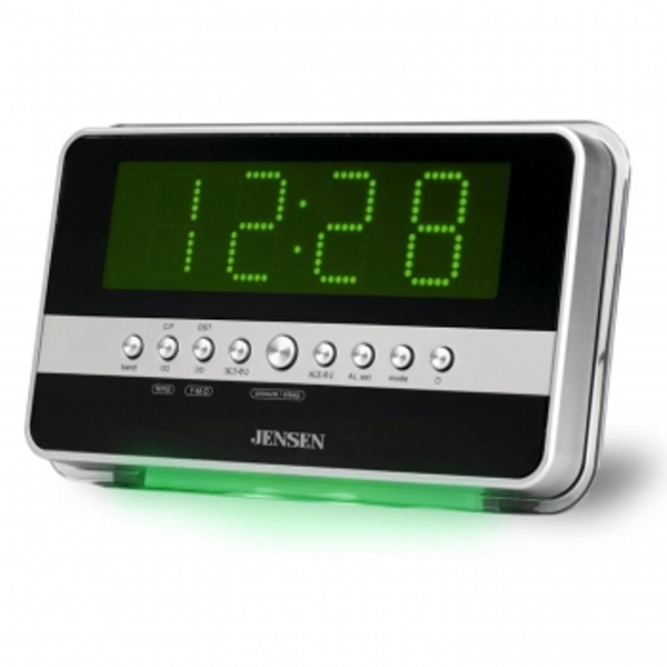 Jensen Jcr-275 Am Fm Dual Alarm Clock Radio With Wave Sensor - Jcr-275 ...