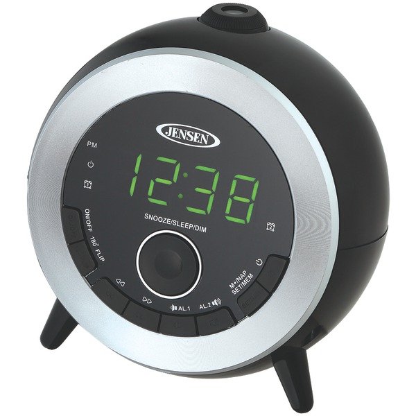 Jensen Jcr-225 Dual Alarm Projection Clock Radio - Jenjcr225-pe ...