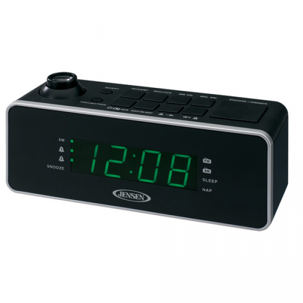 Jensen Dual Alarm Projection Clock Radio & Reviews | Wayfair