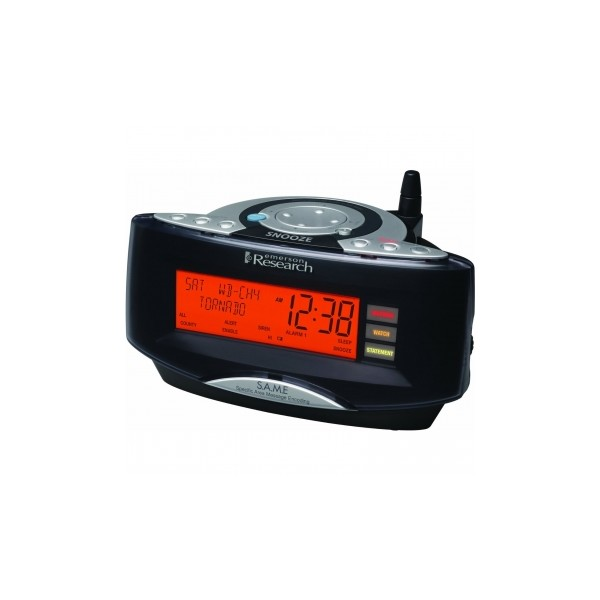 Emerson Radio CKW2000 Dual Alarm Clock Radio with NOAA/Same Weather ...
