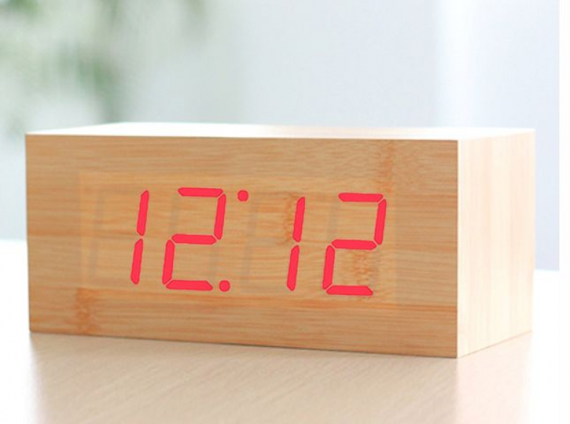HITO Wood Grain LED Alarm Clock | 20 Alarm Clocks