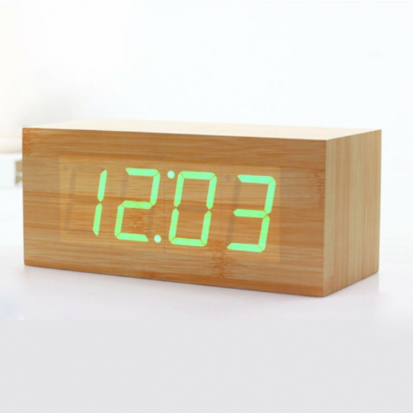 Wood Grain LED Alarm Clock. Alarm part is apparently horrible, but it ...