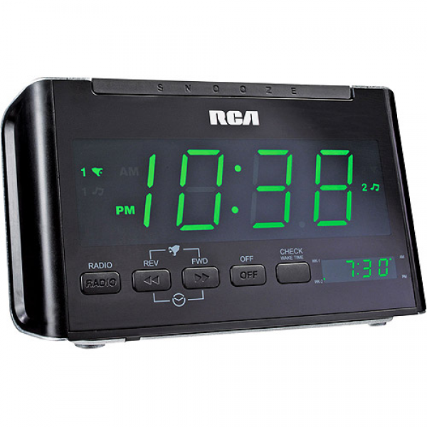 RCA Dual Alarm Clock Radio With AM/FM Radio