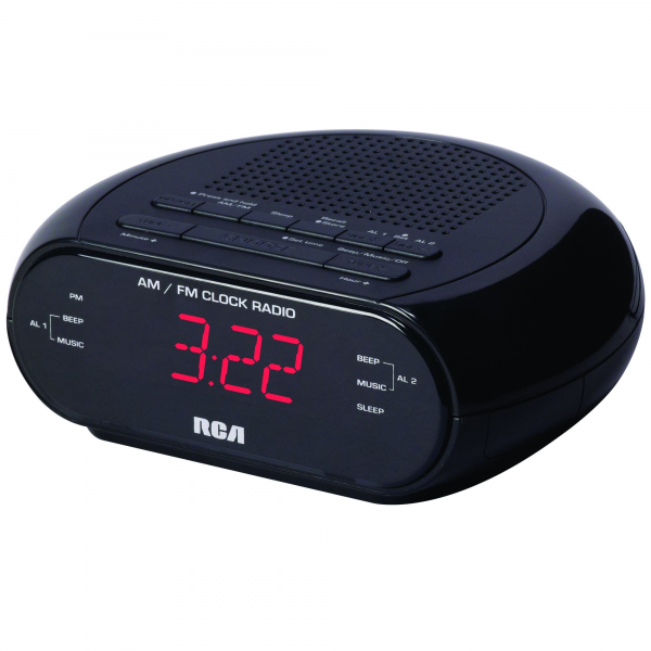RCA AM/FM Dual Wake Alarm Clock with 0.6-Inch Red LED Display - Alarm ...