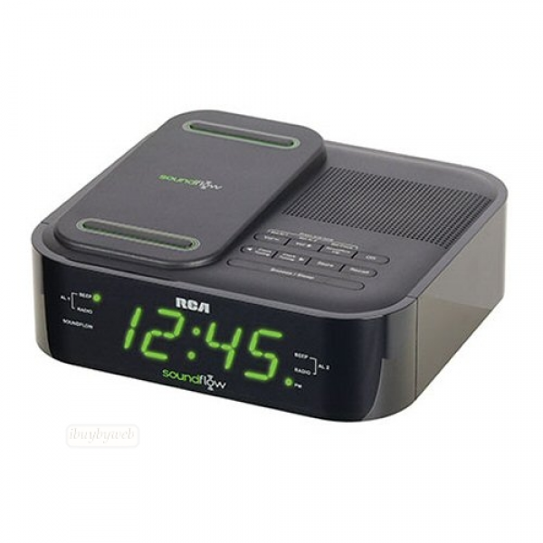 RCA RC250BK Soundflow Dual Alarm Clock FM Radio NEW | eBay