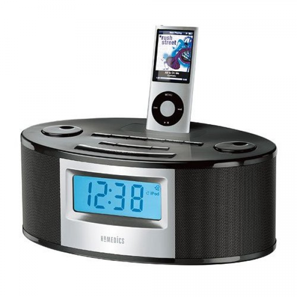 Homedics SoundSpa SS-6510BLK Clock Radio Sound Machine iPod iPhone ...
