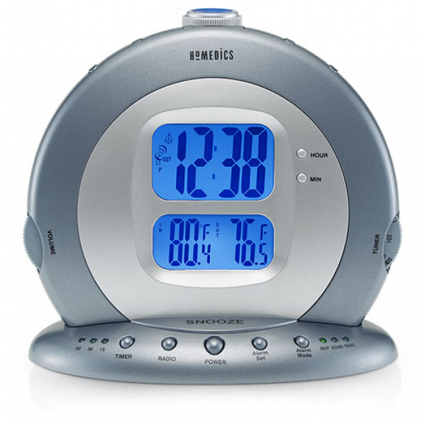 homedics sound machine alarm clocks modern alarm clocks www top clocks com. Black Bedroom Furniture Sets. Home Design Ideas