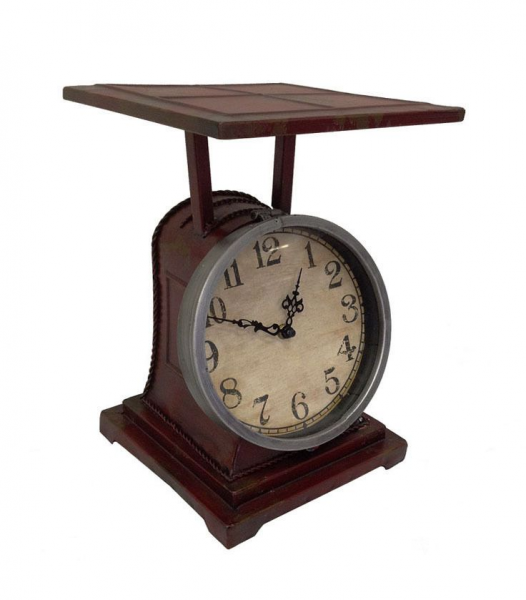Vintage Kitchen Décor Old fashioned Scale Clock Desk Table Clock