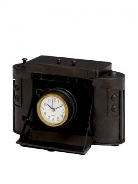 60% OFF Industrial Chic Old-Fashioned Camera Table Clock