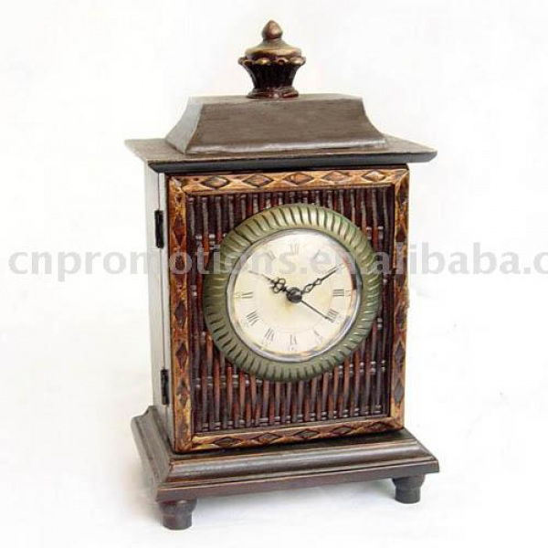View Large Image of Home Decor / Old Fashion Wooden Table Clock / Home ...