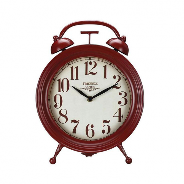 Old-Fashioned Red Table Clock | dotandbo.com