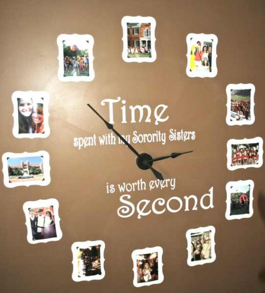 Items similar to Large Sorority wall clock kit, includes vinyl on Etsy