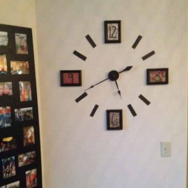 Frames and clock kit = new wall fixture! | For the home... | Pinterest