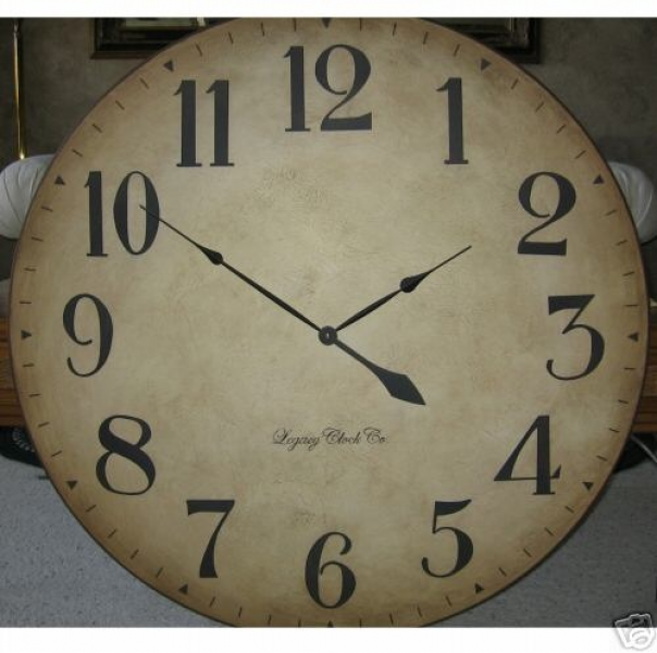 Large Antique Wall Clock 36 Tuscan Big Gallery Custom | eBay