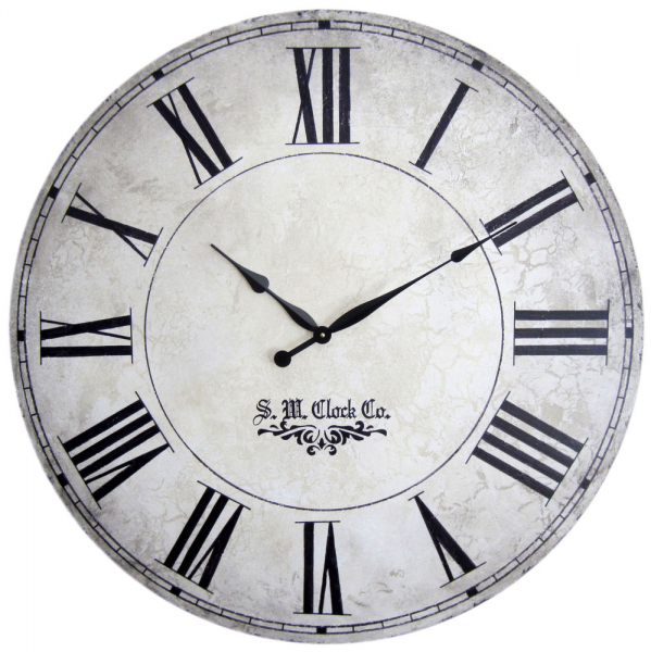 Large Wall Clock 36 Antique Style Big Roman Numerals Grand Gallery II ...
