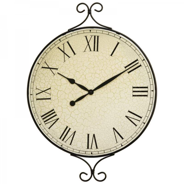 Extra Large Metal Frame Wall Clock