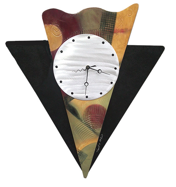 Wall Art Clocks ,Contemporary Artistic Metal Clocks, Abstract Art ...