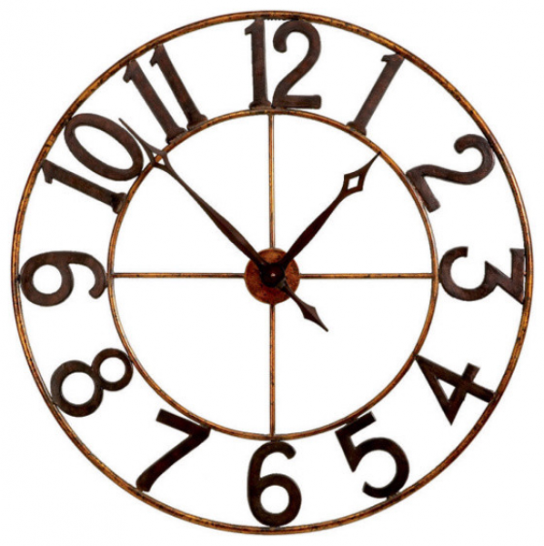 Large Numbers Wall Clock - Eclectic - Wall Clocks - atlanta - by Iron ...