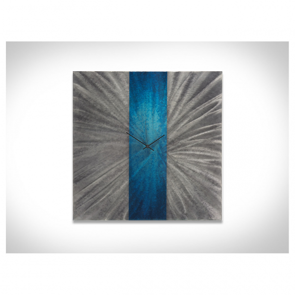 ... Wall Clock Decor - 22x22 in. - Contemporary Blue Wall Clock - Large
