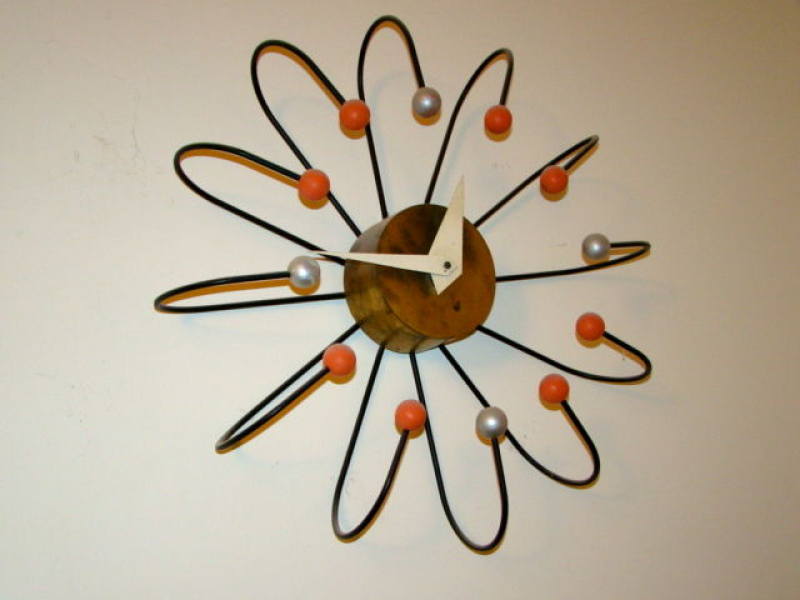 Frederic Weinberg Large Mid Century Atomic Ball Wall Clock at 1stdibs