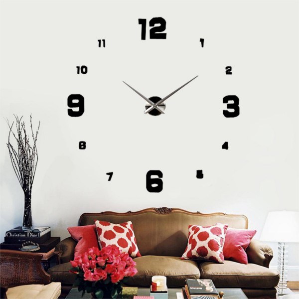 Specifications of Luxury Modern Digital Large Hours 3D Wall Clock Time ...