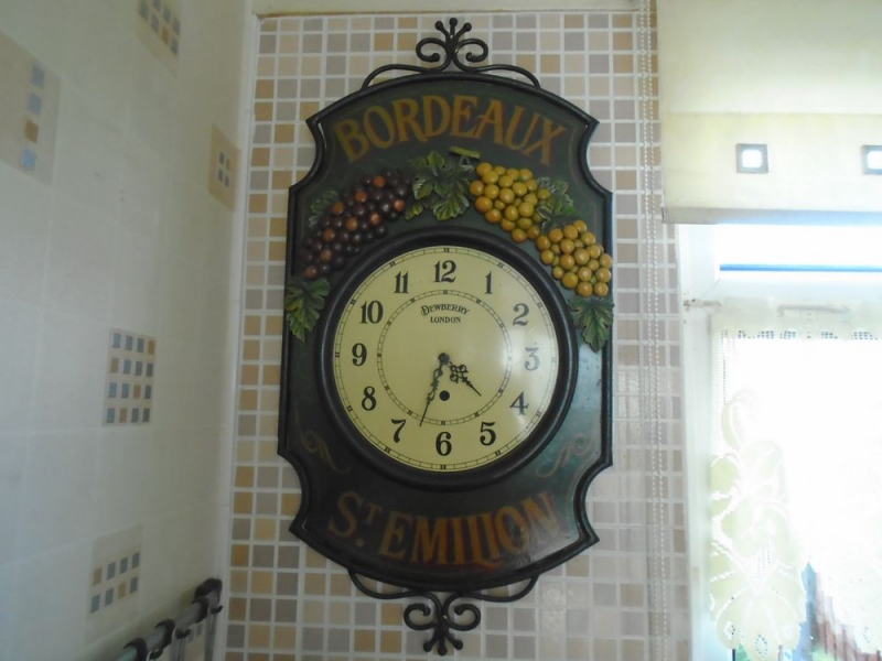 WALL CLOCK,VERY DECORATIVE,LARGE,76 X 40 CM.METAL. | eBay