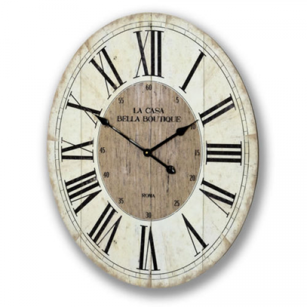 arge oval wall clock la casa bella boutique ready for wall mounting ...