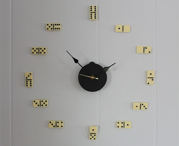 DIY Domino Wall Clock : You can pick up the supplies for this clock ...