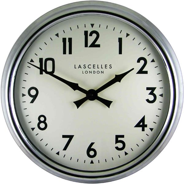 Large Chrome Wall Clock - 60cm