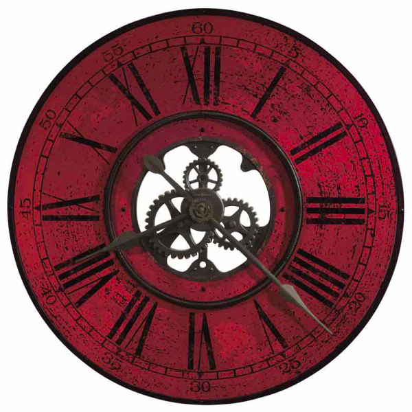 ... Clocks / 625569 Howard Miller Contemporary Oversized Wall Clock in Red