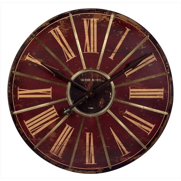 Large Red Wall Clock liked on Polyvore | me myself and i ...