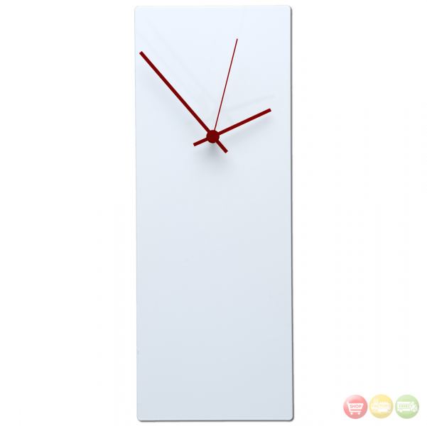 Blackout Red Wall Clock Large - Minimalist Modern - L0178-L