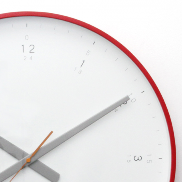 Buy Modern Red Wall Clock Online | Purely Wall Clocks