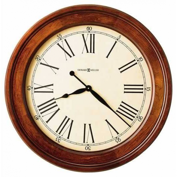 Howard miller contemporary cherry large Wall Clock 620242 AMERICANA